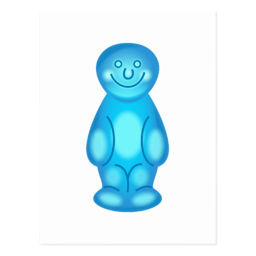 Blue Jelly Baby Postcards