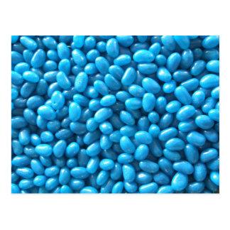 Blue Jelly Bean Postcard