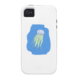 Blue Jellyfish Vibe iPhone 4 Cover