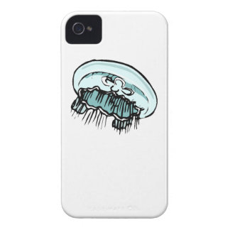 Blue Jellyfish iPhone 4 Cover