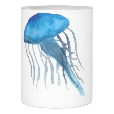 Blue Jellyfish Flameless Candle