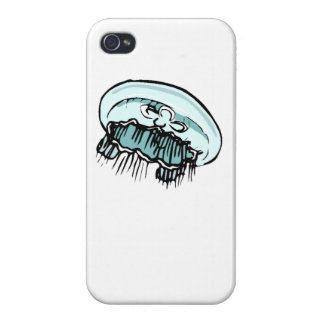 Blue Jellyfish iPhone 4/4S Covers