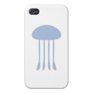 Blue Jellyfish Cover For iPhone 4