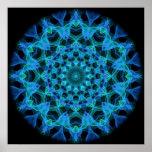 Blue Jellyfish Kaleidoscope Posters
