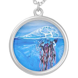 Blue Jellyfish Necklace