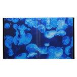 Blue Jellyfish underwater iPad Folio Cover