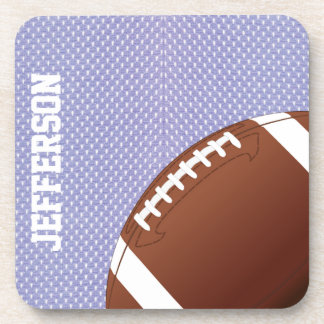 Blue Jersey and Football Custom Coaster