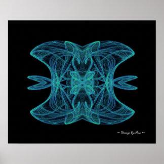 Blue Jest Fractal Poster