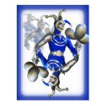 Blue jester postcard