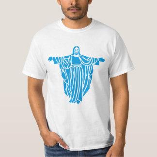 Blue Jesus Airbrush Art Tee