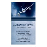 Blue Jet Plane in Sky Charter Pilot Business Cards Business Card Templates