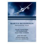 Blue Jet Plane in Sky Charter Pilot Business Cards