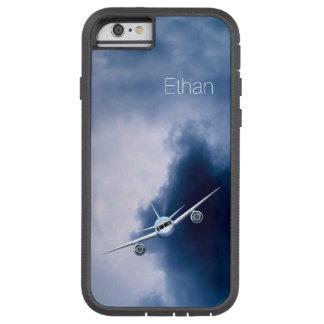 Blue Jet Plane in Sky Pilot Xtreme iPhone 6 Cases Tough Xtreme iPhone 6 Case