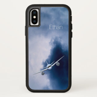 Blue Jet Plane in the Sky Pilot Aviation Xtreme iPhone X Case