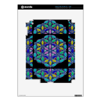 Blue Jewel Necklace Pendent Mandala style design Decal For The iPad 2