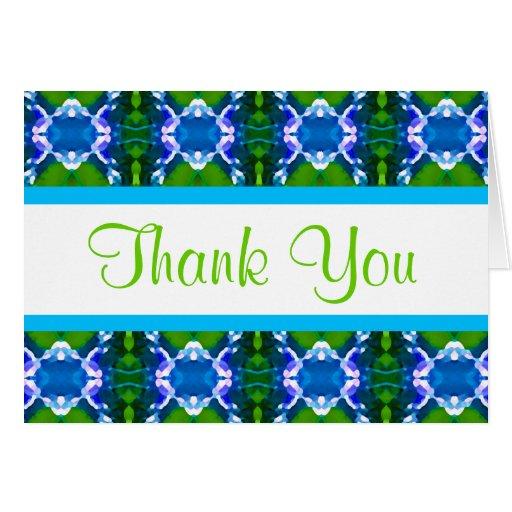 Blue Jewel Pattern Card