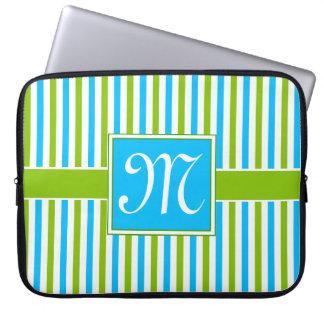 Blue Jewel Pattern Computer Sleeve