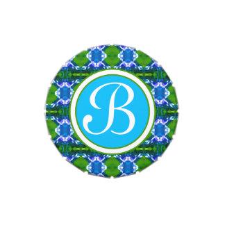 Blue Jewel Pattern Wedding Jelly Belly Tins