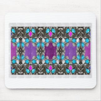 BLUE Jewel Stone Imitation Pattern GIFTS FUN HAPPY Mousepad