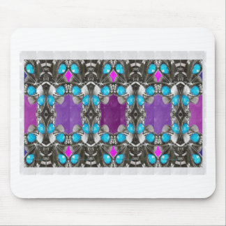 BLUE Jewel Stone Imitation Pattern GIFTS FUN HAPPY Mouse Pad