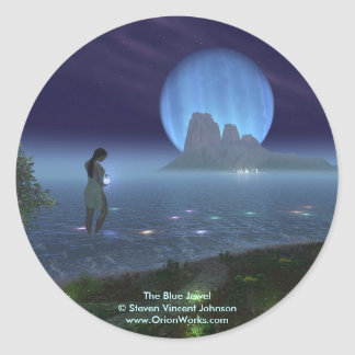 Blue Jewel, The Blue Jewel Steven Vincent John... Classic Round Sticker
