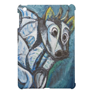 Blue Jeweled Cattle (abstract animal painting) Cover For The iPad Mini