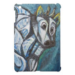 Blue Jeweled Cattle (abstract animal painting) iPad Mini Cases