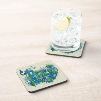 Blue Jeweled Dragon Beverage Coaster
