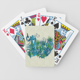 Blue Jeweled Dragon Bicycle Playing Cards