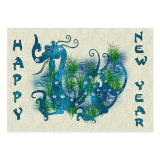 Blue Jeweled Dragon Business Card