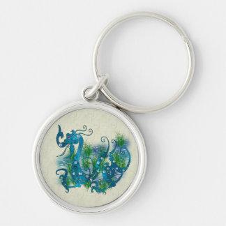 Blue Jeweled Dragon Keychain
