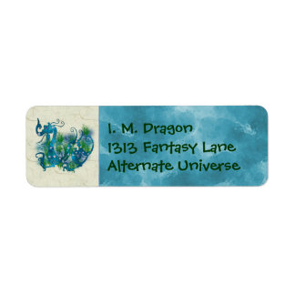Blue Jeweled Dragon Label