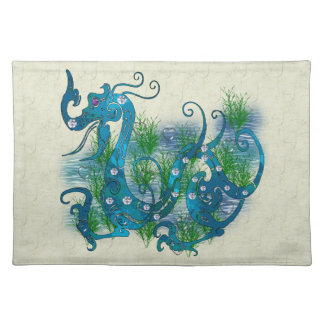 Blue Jeweled Dragon Placemat