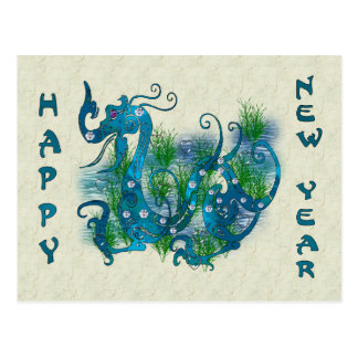 Blue Jeweled Dragon Postcard