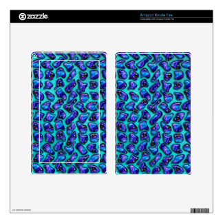 Blue Jeweled Pattern - Abstract Design Skins For Kindle Fire