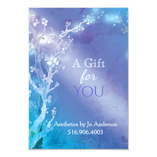 Blue Jeweled Trees Business Gift Certificate Card