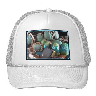 BLUE JEWELS PRINT TRUCKER HAT