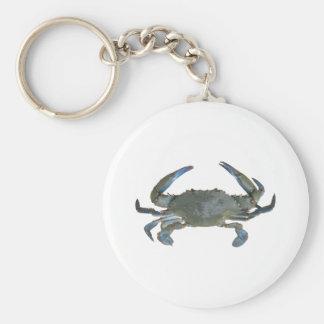 """Blue """"Jimmy"""" Crab Basic Round Button Keychain"""
