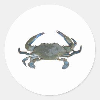 "Blue ""Jimmy"" Crab Classic Round Sticker"