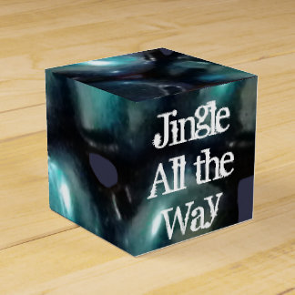 Blue Jingle Bell Christmas Classic Favor Box
