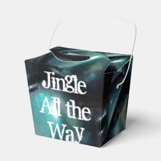 Blue Jingle Bell Take-Out Favor Box