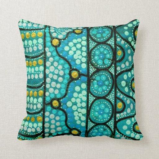 Blue Journey Pillow/Cushion Throw Pillow