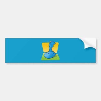 Blue Joystick Bumper Sticker