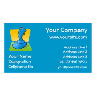 Blue Joystick Double-Sided Standard Business Cards (Pack Of 100)