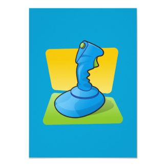 "Blue Joystick 4.5"" X 6.25"" Invitation Card"