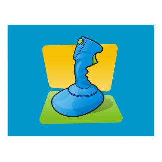 Blue Joystick Postcard