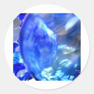 Blue.JPG abstracto Pegatina Redonda
