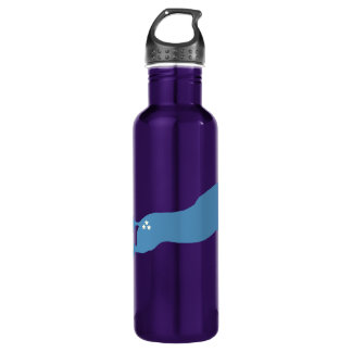 Blue Jumping Horse 24oz Water Bottle