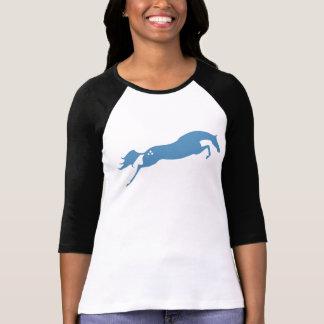 Blue Jumping Horse T-Shirt