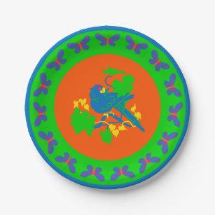 Blue Jungle Parrot Paper Plate  sc 1 st  Zazzle & Jungle Birds Plates | Zazzle